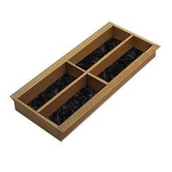 houten bestekbakken met viltbodem